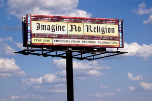 Billboard for new atheist ad campaign