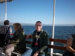 Yours truly, chilling out on the Sea of Galilee