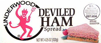 Say what you will about the devil, Underwood deviled ham is delicious!