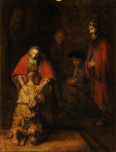 Nouwen's book examines Jesus' parable through the lens of this Rembrandt painting. (Image courtesy of Wikimedia Commons.)