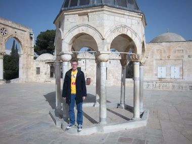 Here I am on the Temple Mount in Jerusalem back in 2011. The Holy Family made an annual pilgrimage here during Passover, as we see in today's scripture.