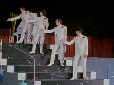 "The Beatles got up and danced to ""a song that was a hit before your mother was born"" in this memorable scene from Magical Mystery Tour."
