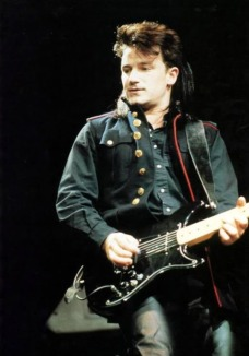 I love the fact that this very young Bono is playing a Fender Lead II. That's my guitar!