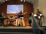 """One of the highlights from yesterday was playing one last time with the Vinebranch Band. I sang the Daniel Amos song """"Joel"""" and improvised a guitar solo on my Fender."""