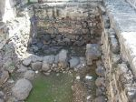 Ruins of the first-century synagogue in Capernaum, where Jesus preached in John 6:59.