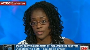 Antionette Tuff, a hero who saved the lives of many children last week.