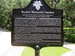 The Methodists and Episcopalians jointly created a memorial garden. While Wesley reluctantly endorsed the establishment of the Methodist Episcopal Church in the newly liberated United States, he and his brother remained Anglicans to the end.