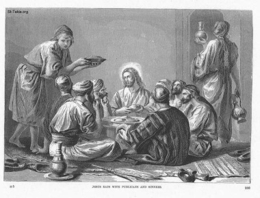 """""""Jesus Eats with Publicans and Sinners,"""" by Alexandre Bida"""