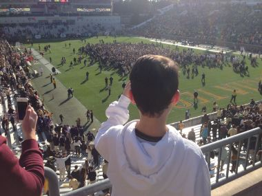 My son Townshend and I enjoyed this recent Georgia Tech victory, over Clemson.
