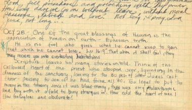 Excerpt from Jim Elliot's journal.