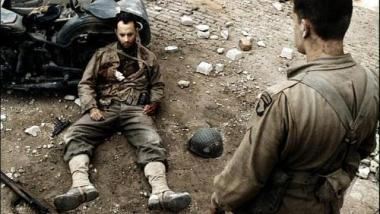 The dying Capt. Miller speaks the most unhelpful words possible to Private Ryan.