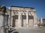 Restored ruins of the 4th century synagogue.